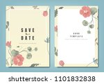 botanical wedding invitation... | Shutterstock .eps vector #1101832838