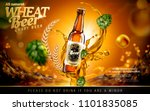 craft wheat beer ads with... | Shutterstock .eps vector #1101835085