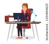 businesswoman sitting in the... | Shutterstock .eps vector #1101844625