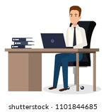 businessman sitting in the... | Shutterstock .eps vector #1101844685