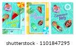 summer pool vector illustration ... | Shutterstock .eps vector #1101847295