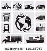vector black logistic  ... | Shutterstock .eps vector #110185052