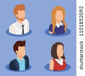 business people isometric... | Shutterstock .eps vector #1101852092