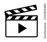 movie clapperboard or film... | Shutterstock .eps vector #1101856382
