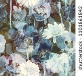 art vintage blurred colorful... | Shutterstock . vector #1101861842