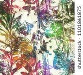 art vintage blurred colorful... | Shutterstock . vector #1101861875