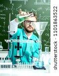 smart man scientist making... | Shutterstock . vector #1101863522