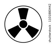 nuclear symbol. radioactive... | Shutterstock .eps vector #1101880442
