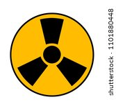 nuclear symbol. radioactive... | Shutterstock .eps vector #1101880448