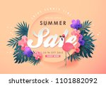 summer sale background layout... | Shutterstock .eps vector #1101882092