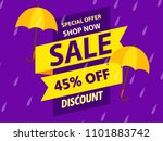 happy monsoon season design ... | Shutterstock .eps vector #1101883742