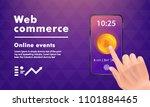 crypto online commerce. mining... | Shutterstock .eps vector #1101884465