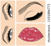 illustration with collage of... | Shutterstock .eps vector #1101886772