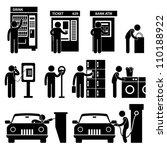 man using auto public slot... | Shutterstock .eps vector #110188922