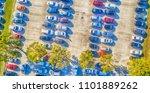 overhead view of big car... | Shutterstock . vector #1101889262