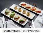 parmesan rocket ndjua. ricotta... | Shutterstock . vector #1101907958