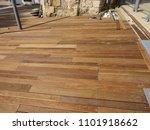 outdoor flooring ipe hardwood. | Shutterstock . vector #1101918662