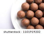 nachni laddu or ragi laddoo or... | Shutterstock . vector #1101919202