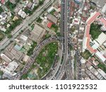 aerial view of traffic jam in... | Shutterstock . vector #1101922532