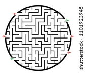 illustration with labyrinth ... | Shutterstock .eps vector #1101923945