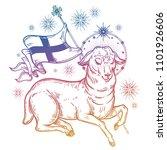 lamb of god christian symbol... | Shutterstock .eps vector #1101926606
