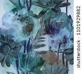 art vintage blurred monochrome... | Shutterstock . vector #1101929882