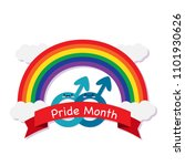pride month red ribbon male... | Shutterstock .eps vector #1101930626
