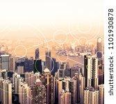modern urban skyline. global... | Shutterstock . vector #1101930878