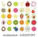 set of fresh hand drawn...   Shutterstock . vector #1101937295