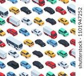 urban cars seamless texture.... | Shutterstock . vector #1101947252