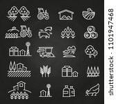 white farm icons and concepts... | Shutterstock . vector #1101947468