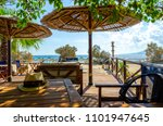 beach bar on naxos island ... | Shutterstock . vector #1101947645