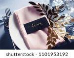 wedding tables set for banquet... | Shutterstock . vector #1101953192