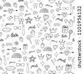 vector abstract doodles...   Shutterstock .eps vector #1101956132