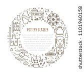 vector pottery workshop banner... | Shutterstock .eps vector #1101960158
