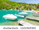 marina in talloires at lake... | Shutterstock . vector #1101969302