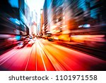 abstract motion blur city... | Shutterstock . vector #1101971558