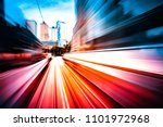 motion speed city background  | Shutterstock . vector #1101972968