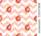 seamless pattern with shrimp on ... | Shutterstock .eps vector #1101973838