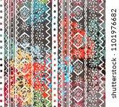 ethnic boho seamless pattern.... | Shutterstock .eps vector #1101976682