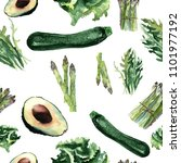 vegan seamless pattern.  ... | Shutterstock . vector #1101977192