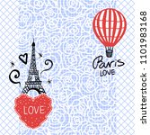 card with hearts hand draw and...   Shutterstock .eps vector #1101983168