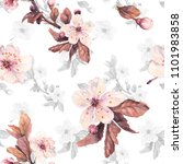 romantic seamless pattern with...   Shutterstock . vector #1101983858
