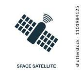 space satellite icon. flat...