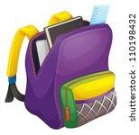 illustration of a school bag on ... | Shutterstock .eps vector #110198432