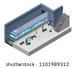 isometric subway station... | Shutterstock .eps vector #1101989312