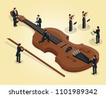 isometric orchestra template...   Shutterstock .eps vector #1101989342