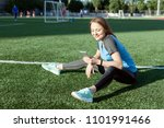 woman involved in sports and... | Shutterstock . vector #1101991466
