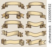 vintage design banner ribbons.... | Shutterstock . vector #1102000532