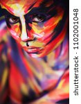 portrait of the bright... | Shutterstock . vector #1102001048